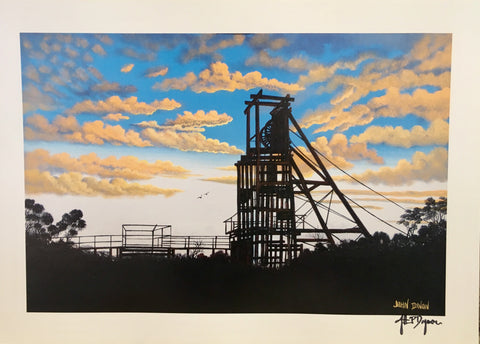 Junction mineshaft print