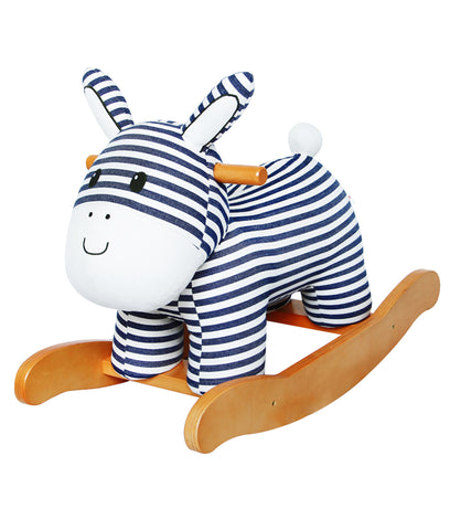 Child Rocking Horse Toy, Stuffed Animal Rocker Toy, Blue Dinosaur Rocker for Kid 1-3 Years