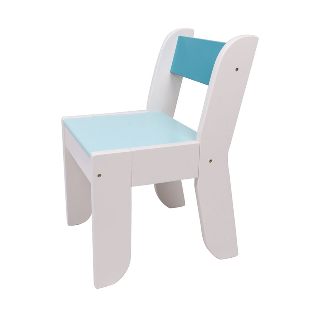 Chair For Kids Light Blue Color For 1 To 5 Years Old Kids Pair With Orange Owl Table Set