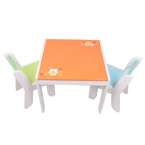 Chair for Kids Red for 1 to 5 Years Old Kids, Pair with Red Apple Table Set, Solid Wood