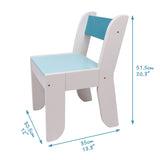 Chair for Kids- Light Blue Color for 1 to 5 Years Old Kids, Pair with Orange Owl Table Set - Labebe
