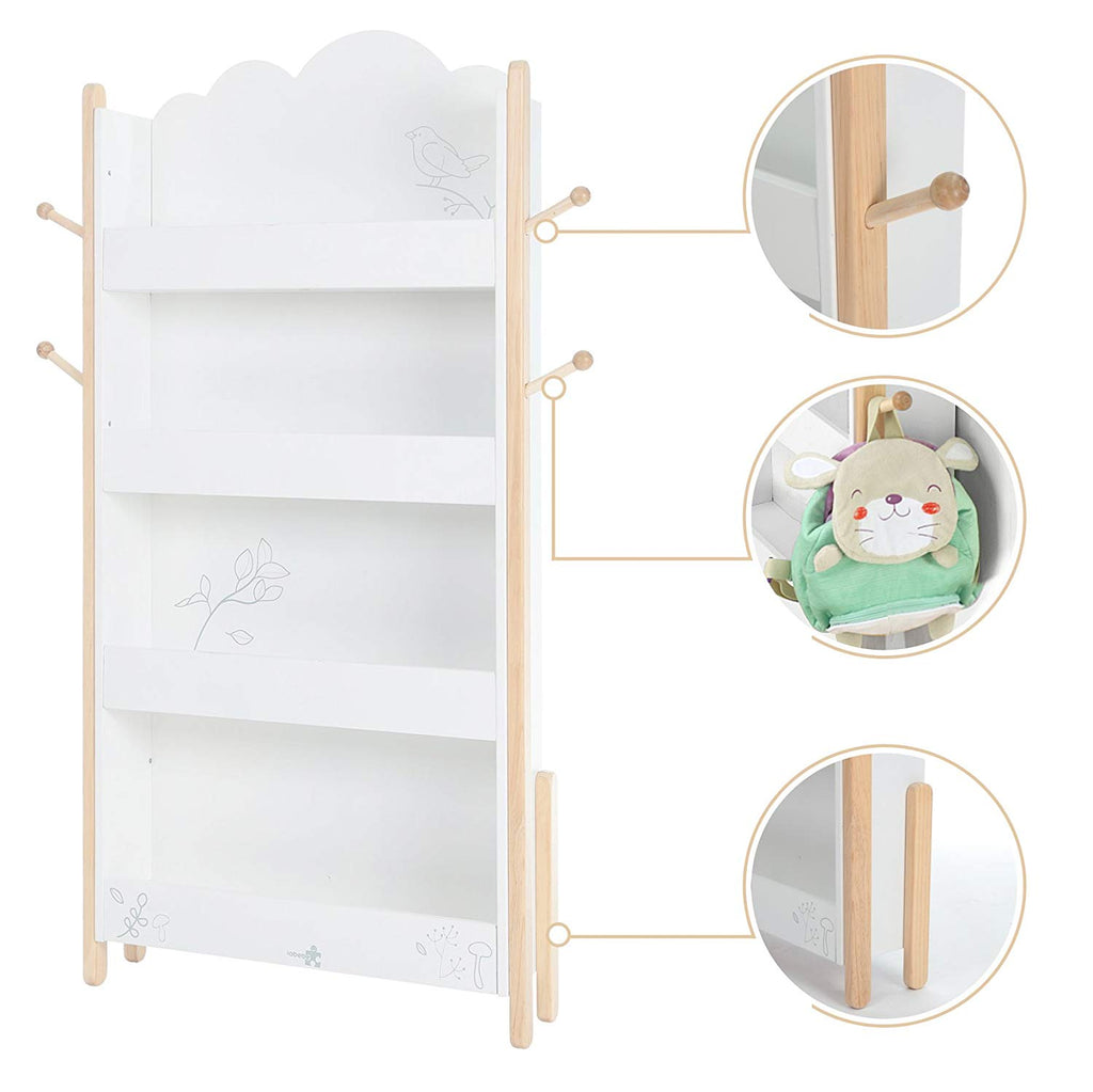 labebe【Kid Book Display, Wood White Bookshelf for Kid 1 Year Up, Kid Bookshelf White/Baby Bookshelf/Child Bookshelf/White Bookshelf for Girl&Boy Room/Bookshelf White/Kid Book Rack - Labebe