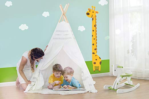 Play Teepee Kid, Baby Tent for Kids 2-5 Years - White Indian Tent - Labebe