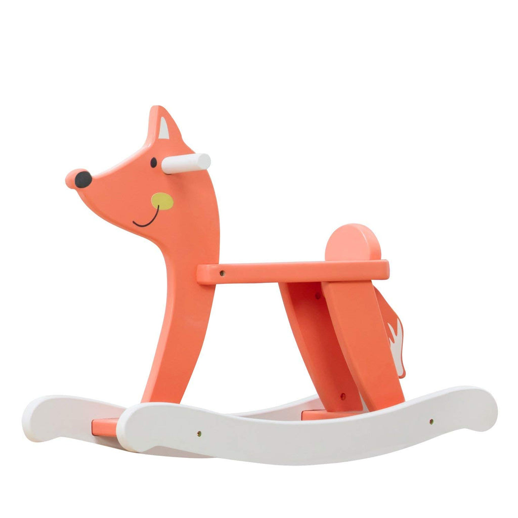 Labebe Amazon Best Selling Child Rocking Horse, Wooden Rocking Horse Toy, Orange Fox Rocking Horse for Kid 1-3 Years - Labebe