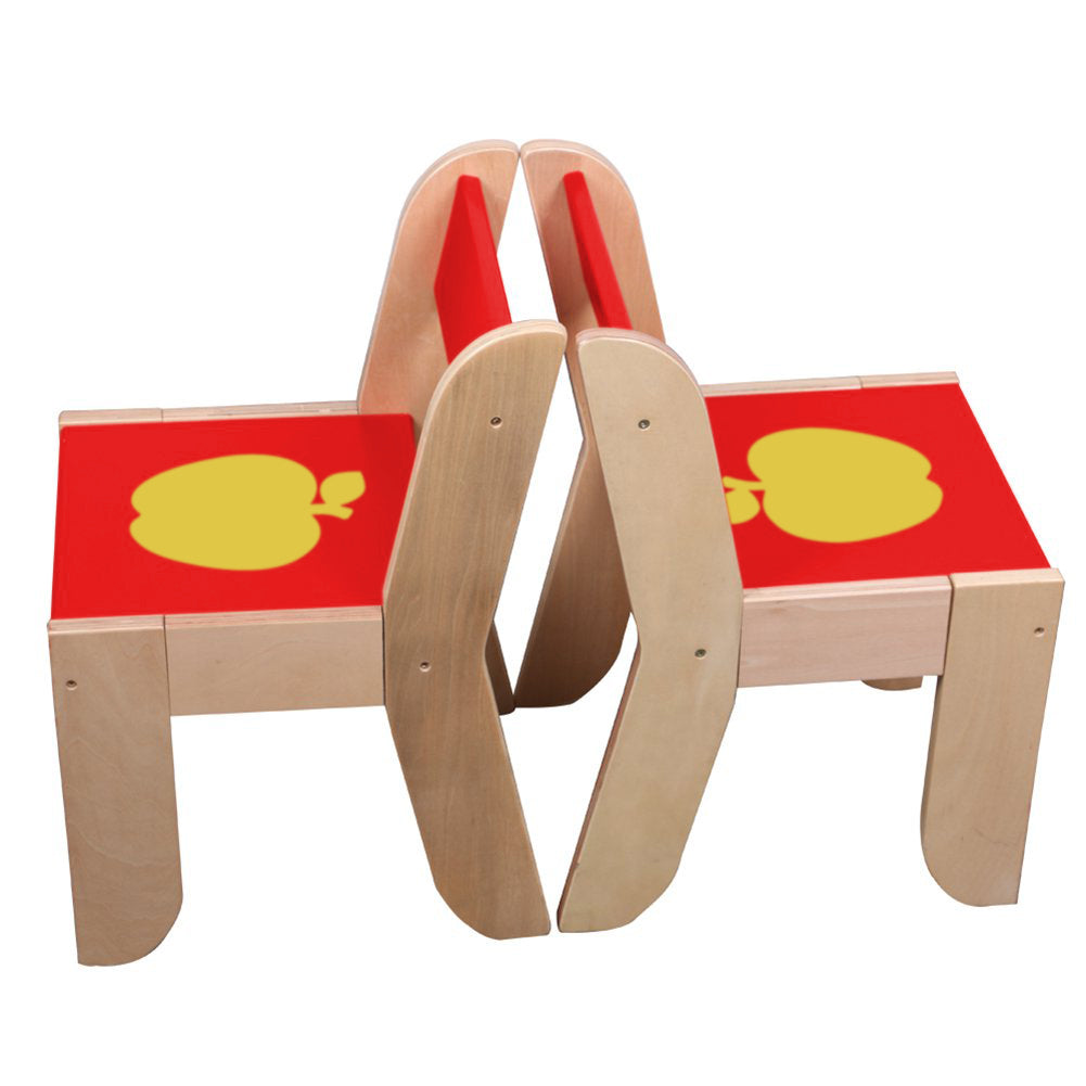 Merveilleux ... Wooden Activity Table Chair, Red Apple Toddler Table With Chalkboard  For 1 5 Years ...