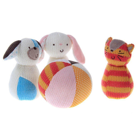 Knitted Activity Toys Set Bonny Pink