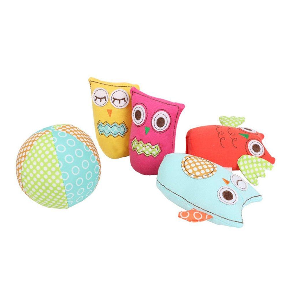 Toddlers Kids Plush Stuff Toys, Skill Development Learning and Educational Grasp Training Toy - Owl - Labebe