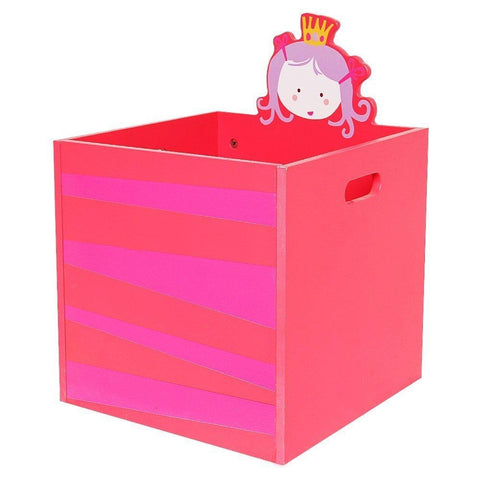 Children Room Furniture Lovely Wooden Armoire Closet for Girls Toddler, with 5 Separated Shelves