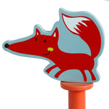 Kid Furniture, Appendiabiti per bambini in legno con 6 ganci - Orange Fox - Labebe