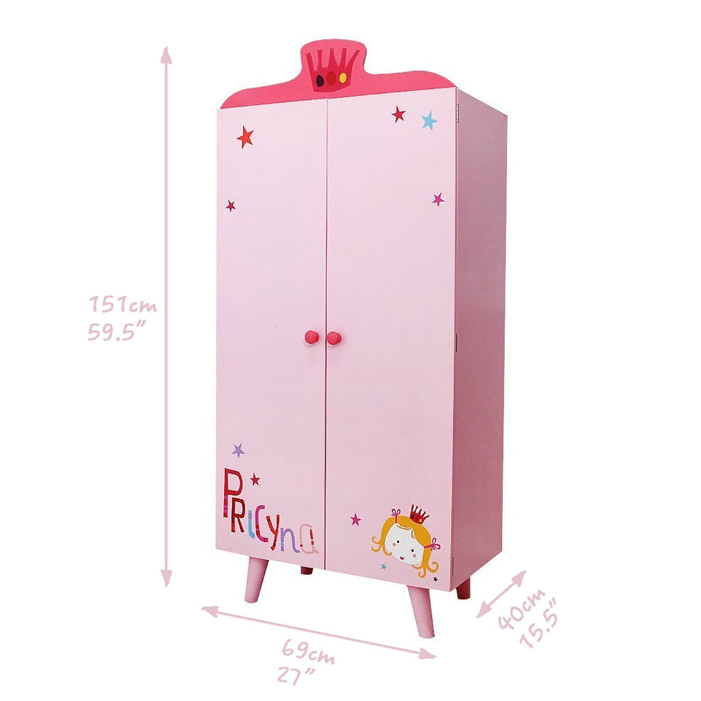 ... Labebe Children Room Furniture Lovely Wooden Armoire Closet/Wardrobe  For Girls Toddler, With 5 ...