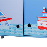 Children's Wooden Furnitury Kids' Ocean Style Free Standing Cabinet - Labebe