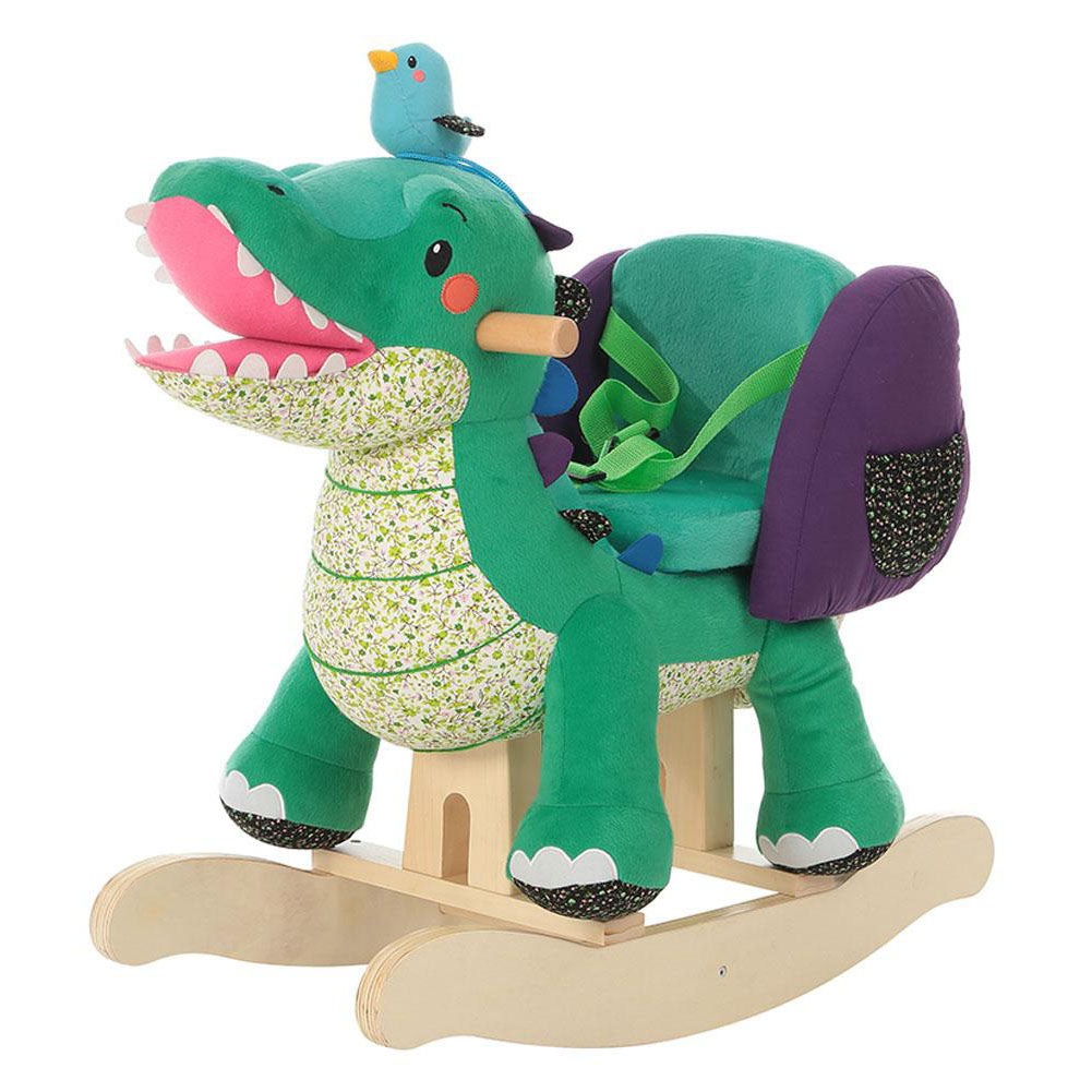 Child Rocking Horse Toy, Stuffed Animal Rocker, Green Crocodile Plush Rocker Toy for Kid 1-3 Years - Labebe