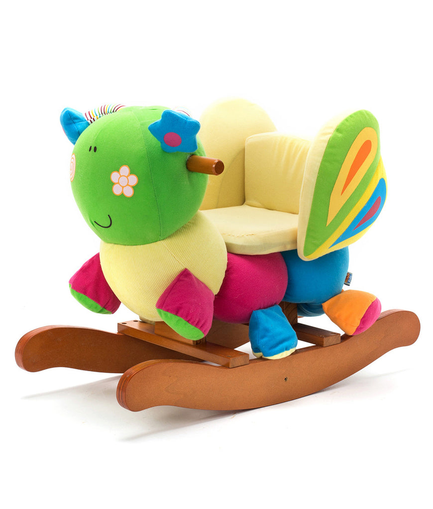 Labebe Wooden Baby Rocking Horse Ride On Toys   Butterfly