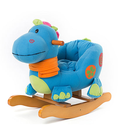 Child Rocking Horse, Wooden Rocking Horse Toy, Stars Printed Green Rocking Horse for kid 1-3 Years