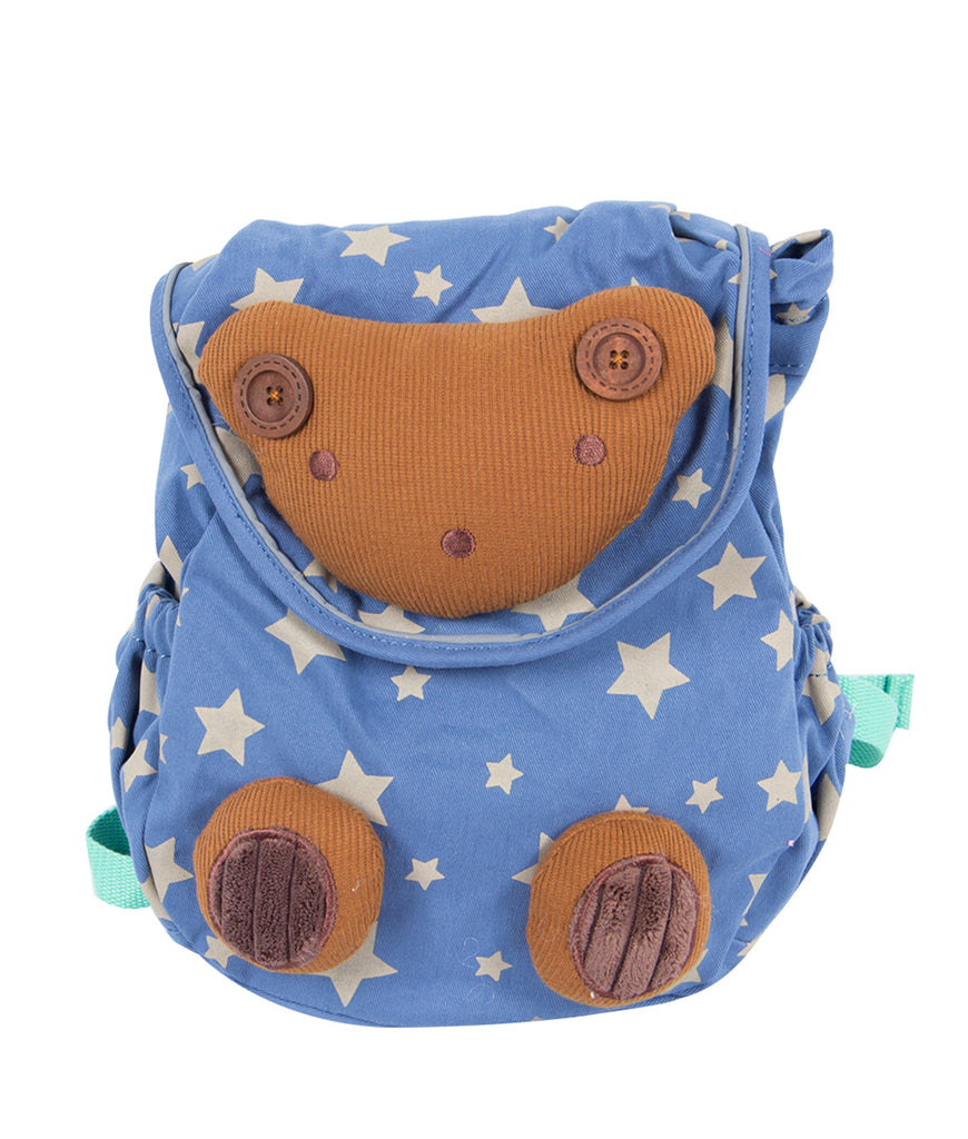 Blue Toddler Backpack with Harness, Bear Bag for Kid of 1-3 Years - Labebe