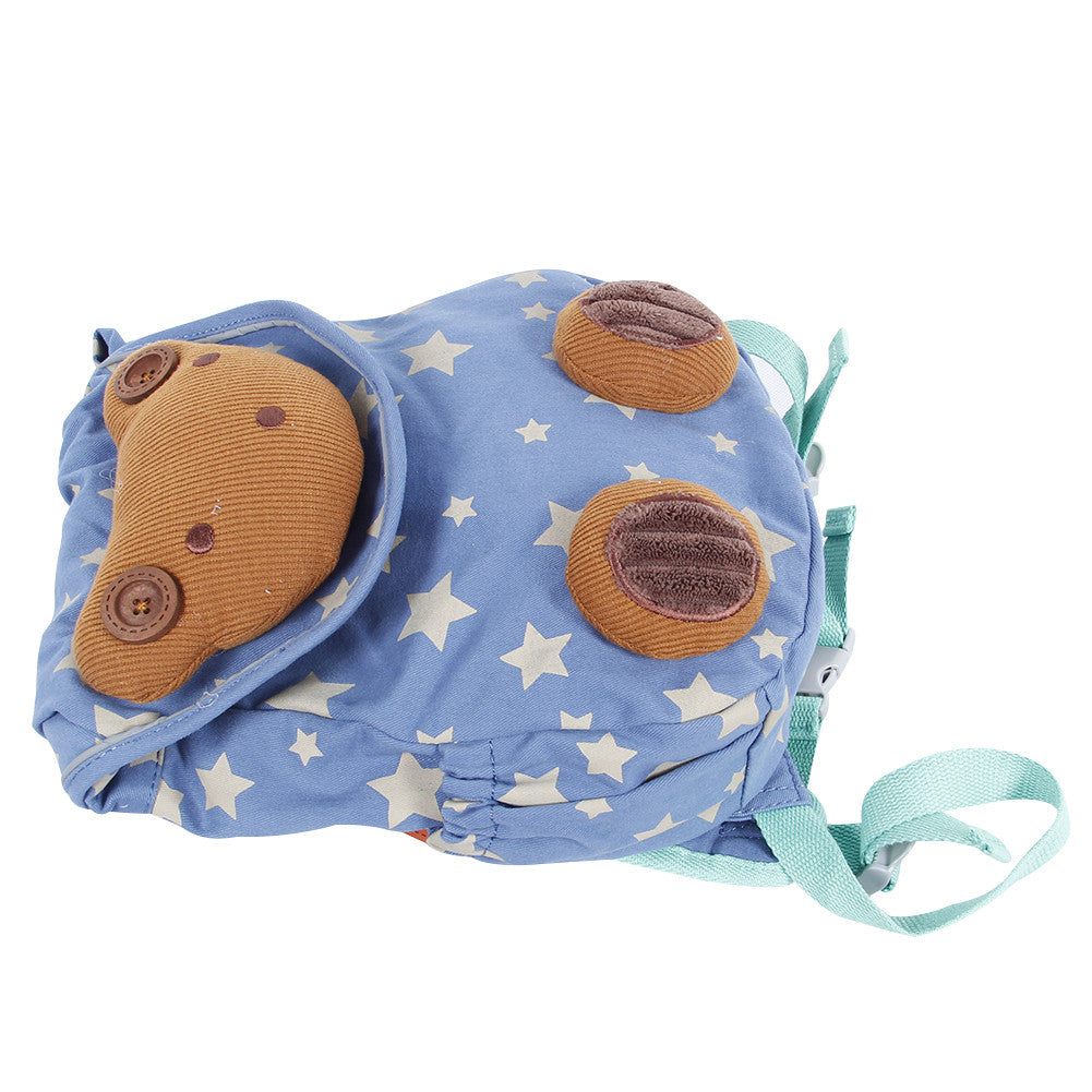 0898812c11f3 Blue Toddler Backpack with Harness