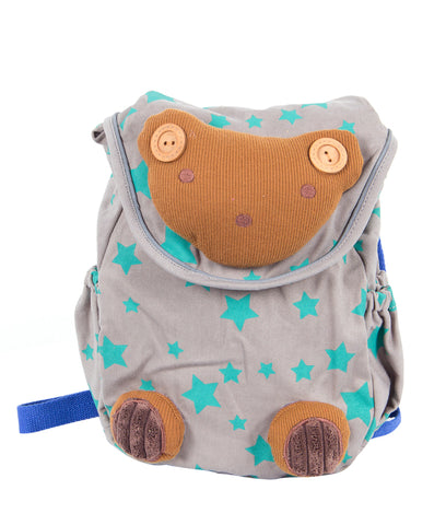Blue Toddler Backpack with Harness, Bear Bag for Kid of 1-3 Years
