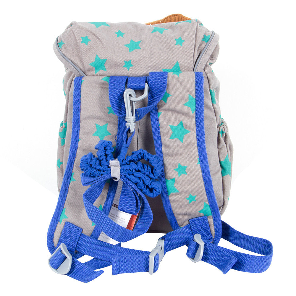 Toddler Backpack with Harness, Grey Bear Bag for Kid of 1-3 Years - Labebe