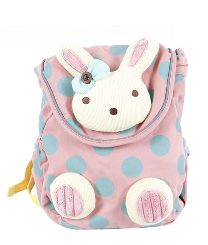 Toddler Backpack with Harness, Red Backpack with Bunny for Kid of 1-3 Years