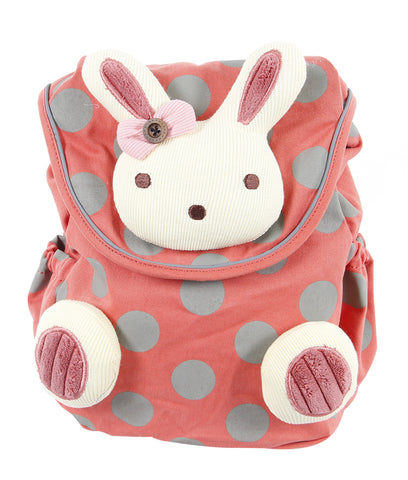 Toddler Backpack with Harness, Pink Backpack with Bunny, Lovely Backpack for Kid of 1-3 Years