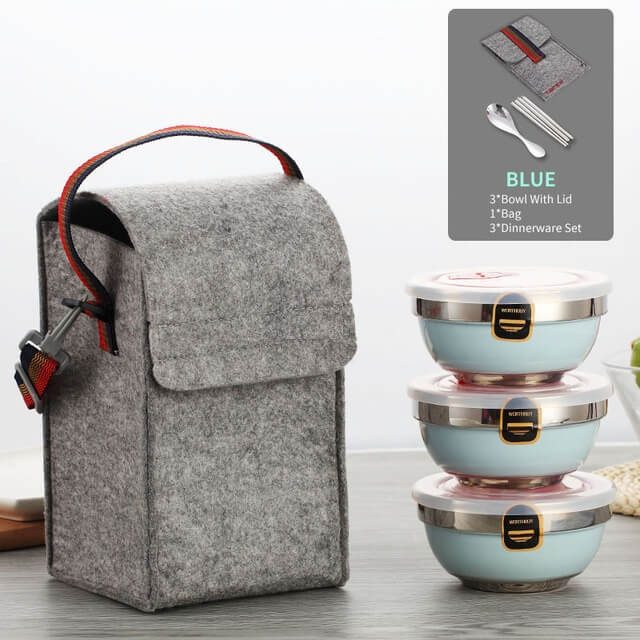 ClassicBox™ Set of Thermal Insulated Mini LunchBoxes