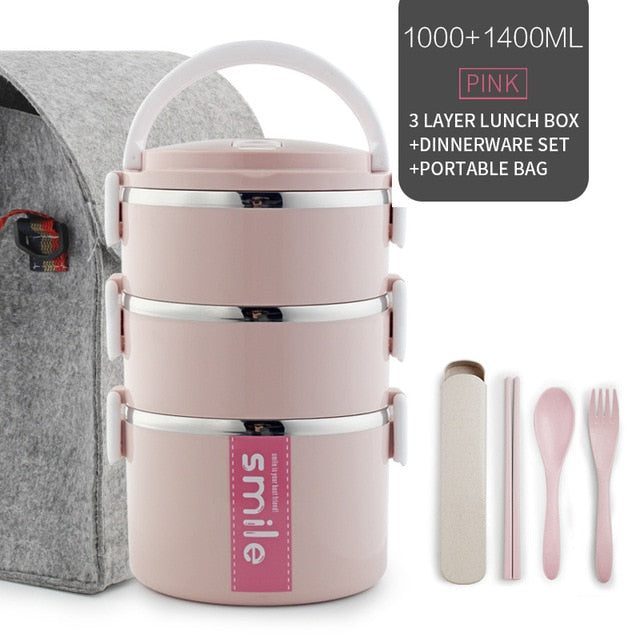 SmileBox™ Premium Microwavable Multilayer LunchBox