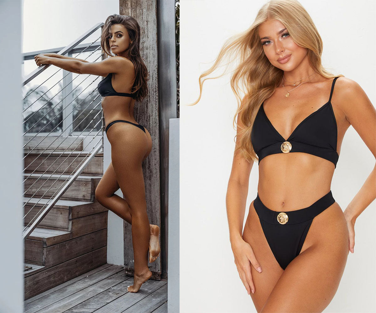 Fetchshe Black Brazilian Cut Bikini