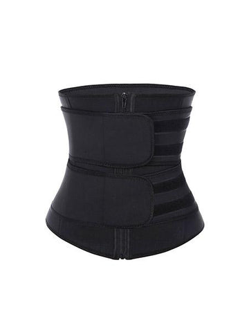 Fetchshe Double Belts Tummy Control Zipper Adjustable Waist Trainer