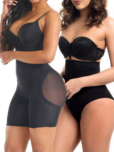 Fetchshe Special Offer | 2-Piece Pack Tummy-tucking Butt-lifting Shaping Shorts High Waist