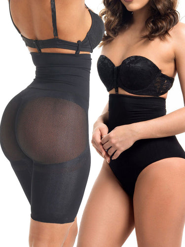 Fetchshe Special Offer | 2-Piece Pack High Waisted Tummy-tucking Butt-lifting Shaping Shorts