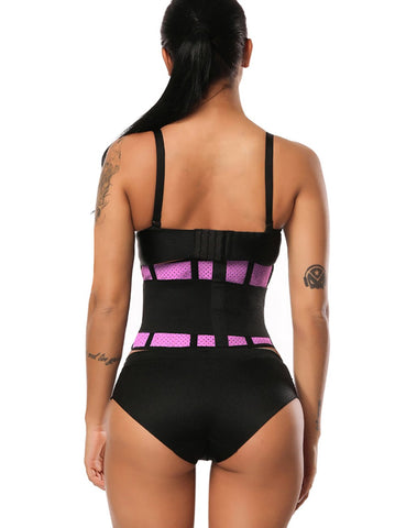 Fetchshe Ultra Latex Waist Slimming Belt Honeycomb Panel Push Up Shapewear