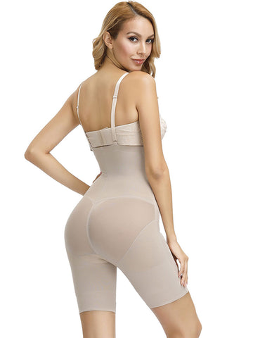 FETCHSHE  X Pannel Shaping Pant Black Nude High Waist Shaperwear