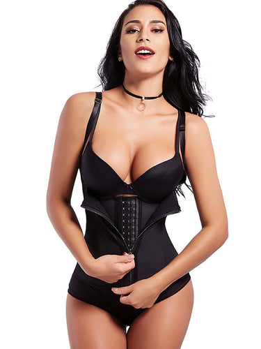 Fetchshe  6 Steel Bones Latex Waist Cincher - Fetchshe