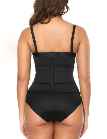 Fetchshe Ultra Sweat Neoprene Waist Trainer 7 Bones Double Velcro Corset