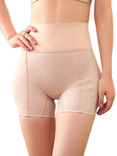 Sleek High Waist Buttock Lifting Panties Wide Waistband Plus Size Tummy Training - Joymode