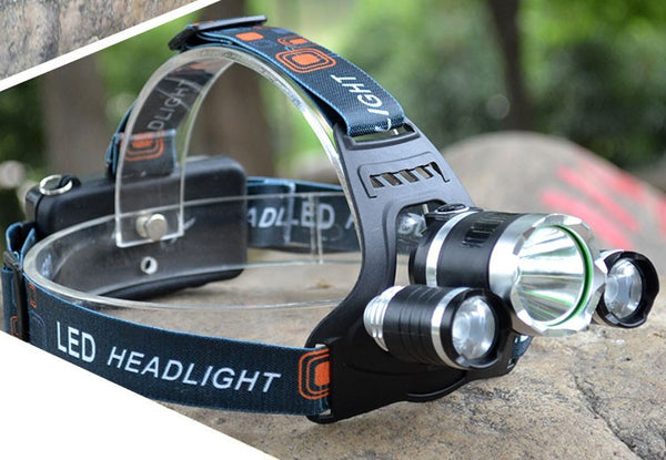 Super Powerful 10000 Lumens LED Headlamp- Includes batteries, chargers and USB