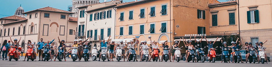 TRONO & Vespa ride through Tuscany, Italy