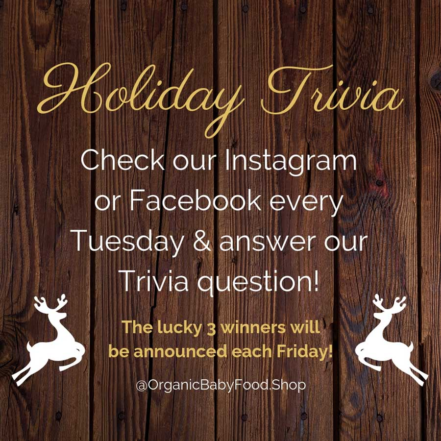Holiday Trivia Organic Baby Food Shop
