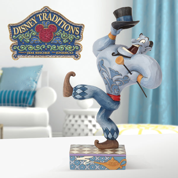 You ain't never had a friend like me! Disney Traditions by Jim Shore proudly presents  new Genie figurine, from the film Aladdin.