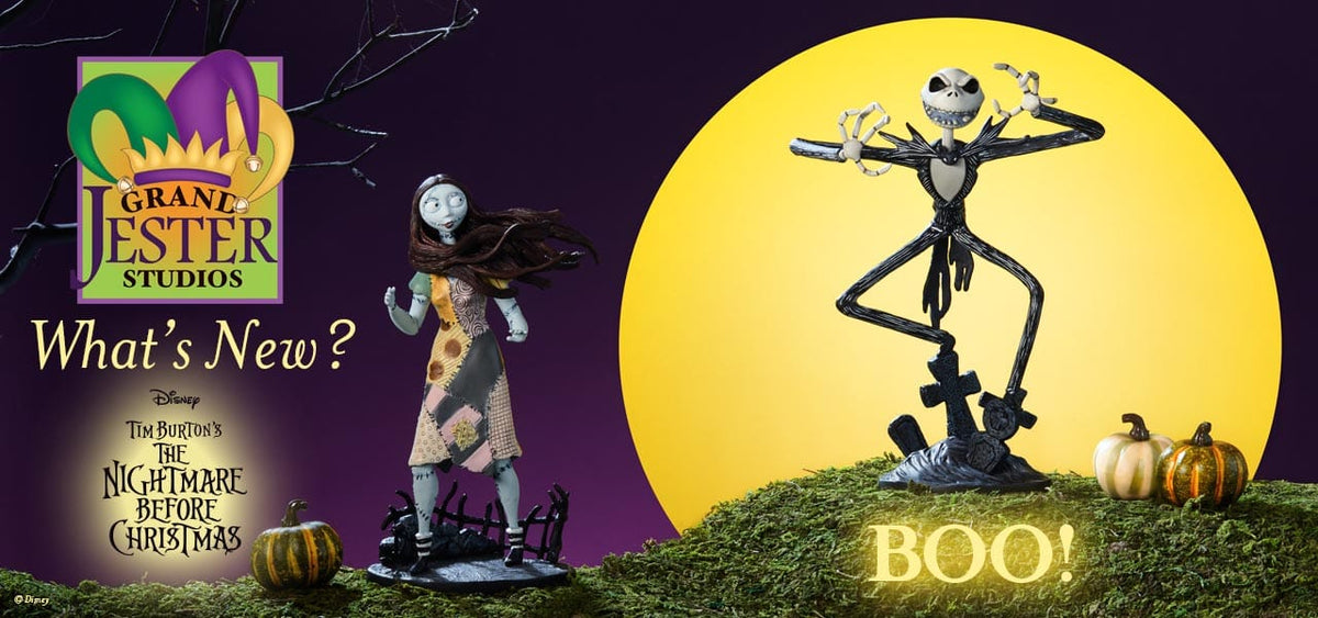 New to Grand Jester Studios Night Before Christmas Vinyl Figurines of Jack and Sally