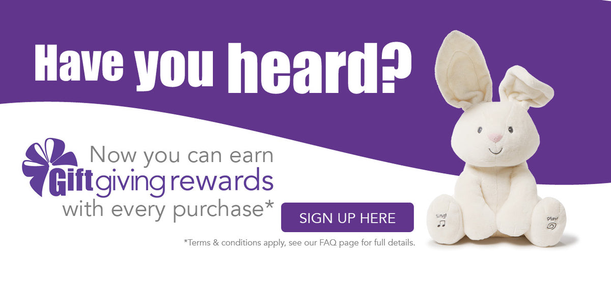 Earn Gift Giving Rewards with every purchase*