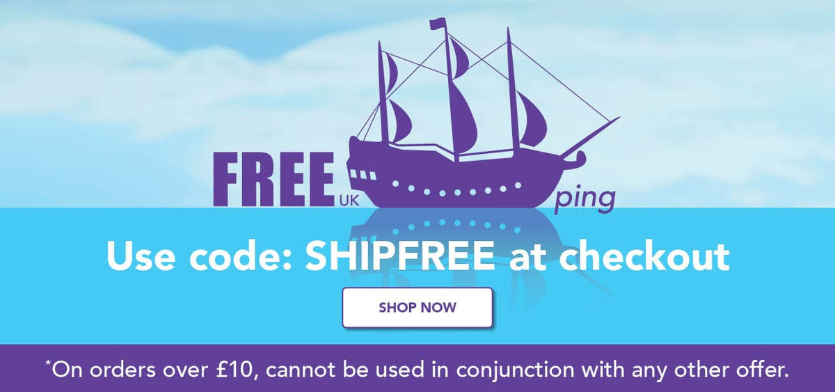 Free shipping on all order over £10 use code SHIPFREE at the checkout