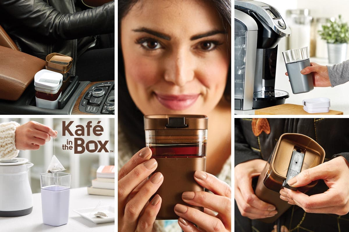 Kafe in the Box, fits perfectly into your busy life. Ditch the disposable cup, fair and square.