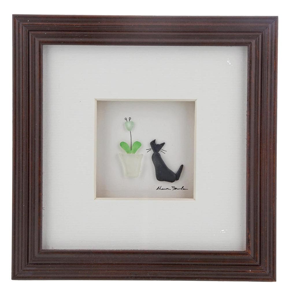 The Sharon Nowlan Collection Purrfect Petals Framed Picture 15cm x 15cm