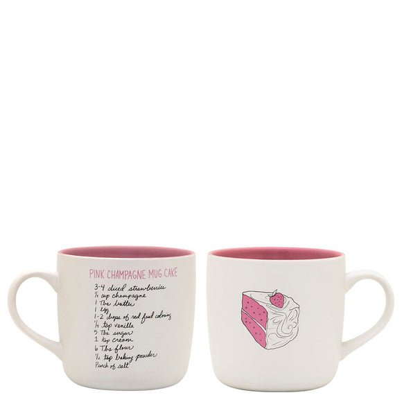 About Face Pink Champagne Mug Cake