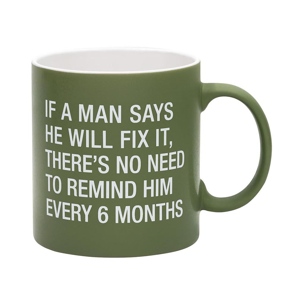 About Face No Need to Remind Him Mug