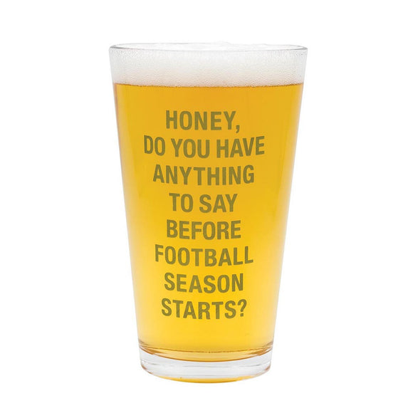 About Face Football Season Pint Glass