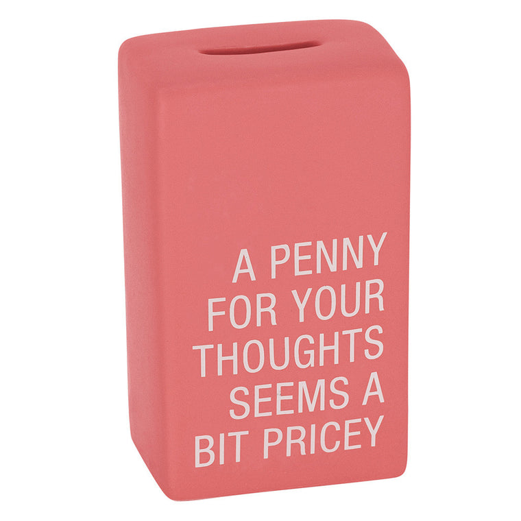 Penny For Your Thoughts Ceramic Money Bank