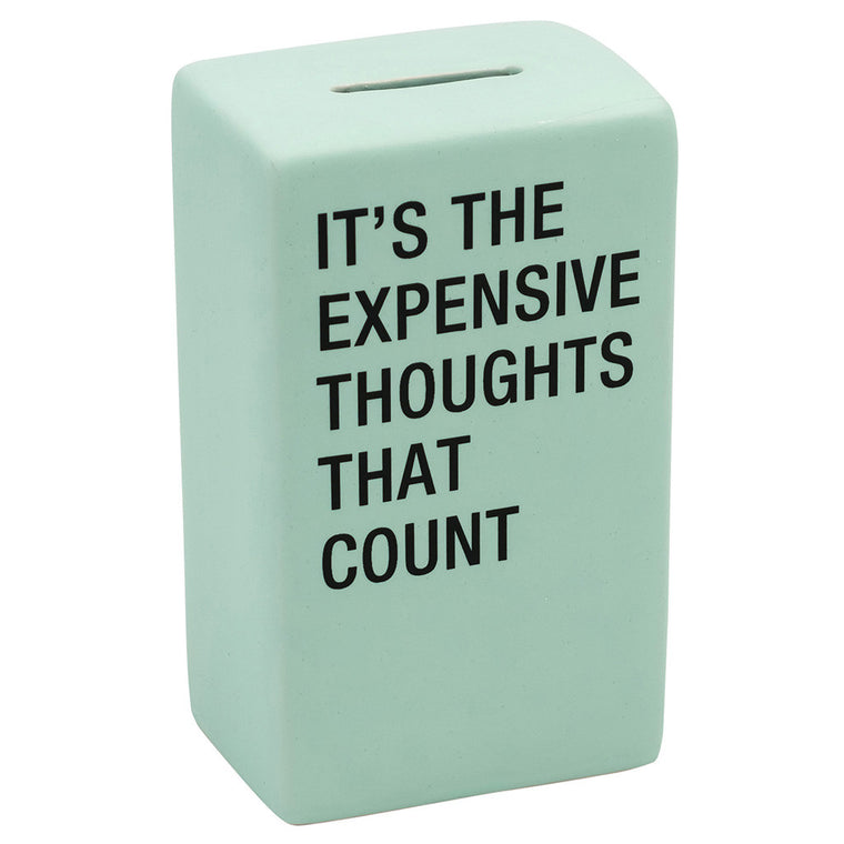 Expensive Thoughts Ceramic Money Bank