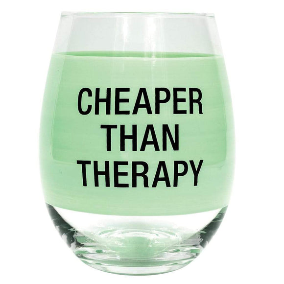 About Face Cheaper Than Therapy Glass